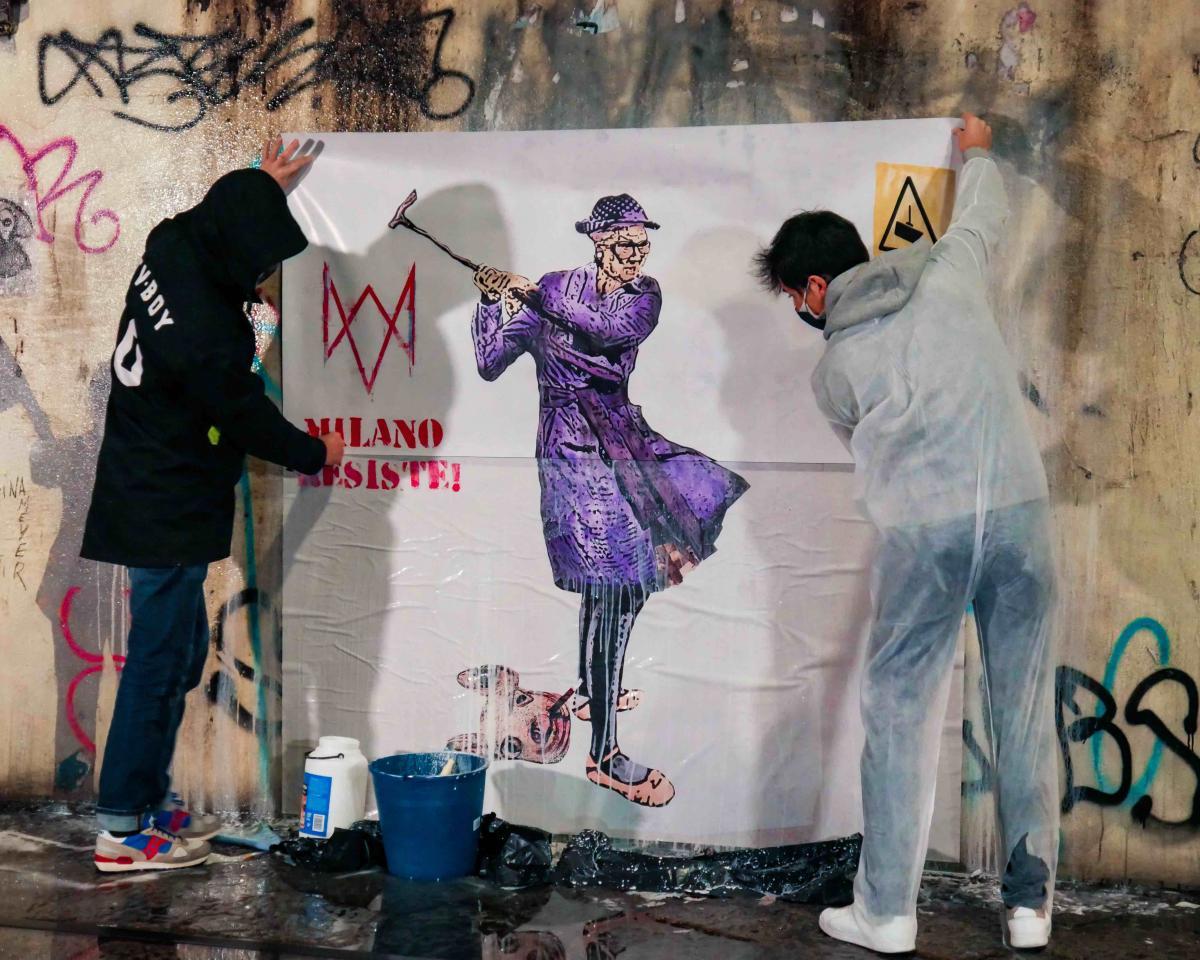 TVBOY, prima opera di street art non deturpabile durante l'applicazione