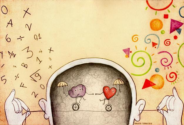 finanza comportamentale immagine di una testa con un cuore e un dervello