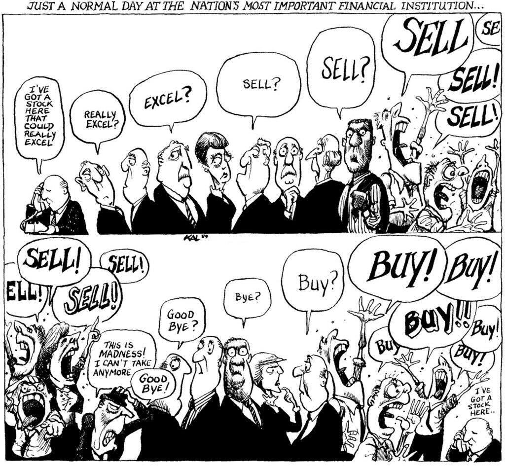 finanza comportamentale immagine di un momento di scambio in borsa