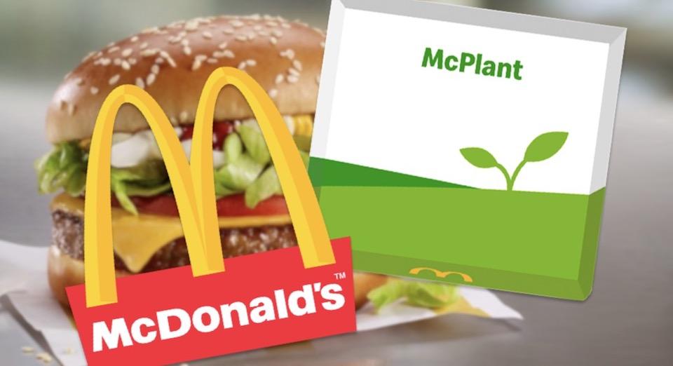 McDonald's hamburger Vegan esempio scatola