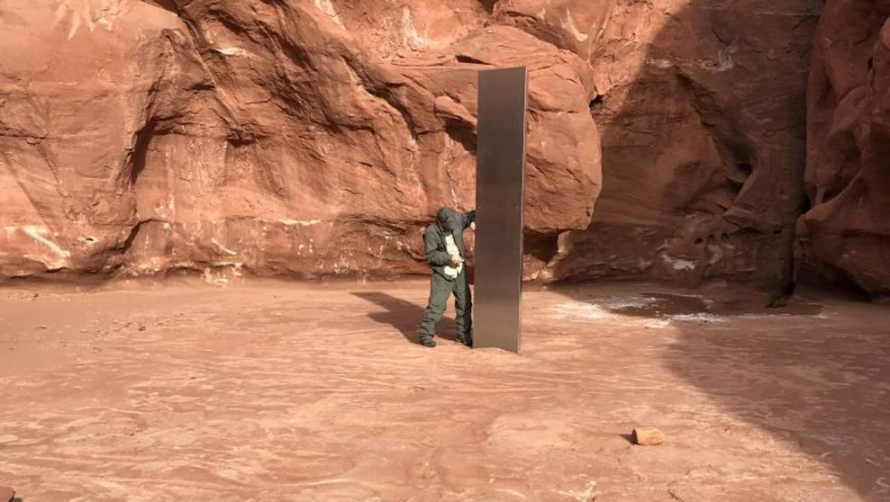 misterioso monolite Utah immagine con il pilota
