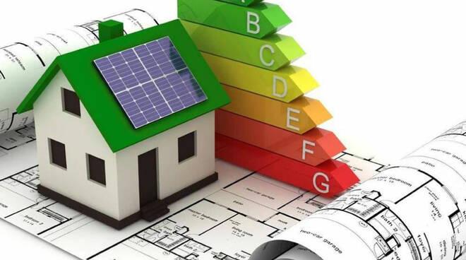 Superbonus 110% una casa con il grafico delle classi energertiche