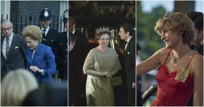 The Crown Famiglia Reale Thatcher Elisabetta Diana