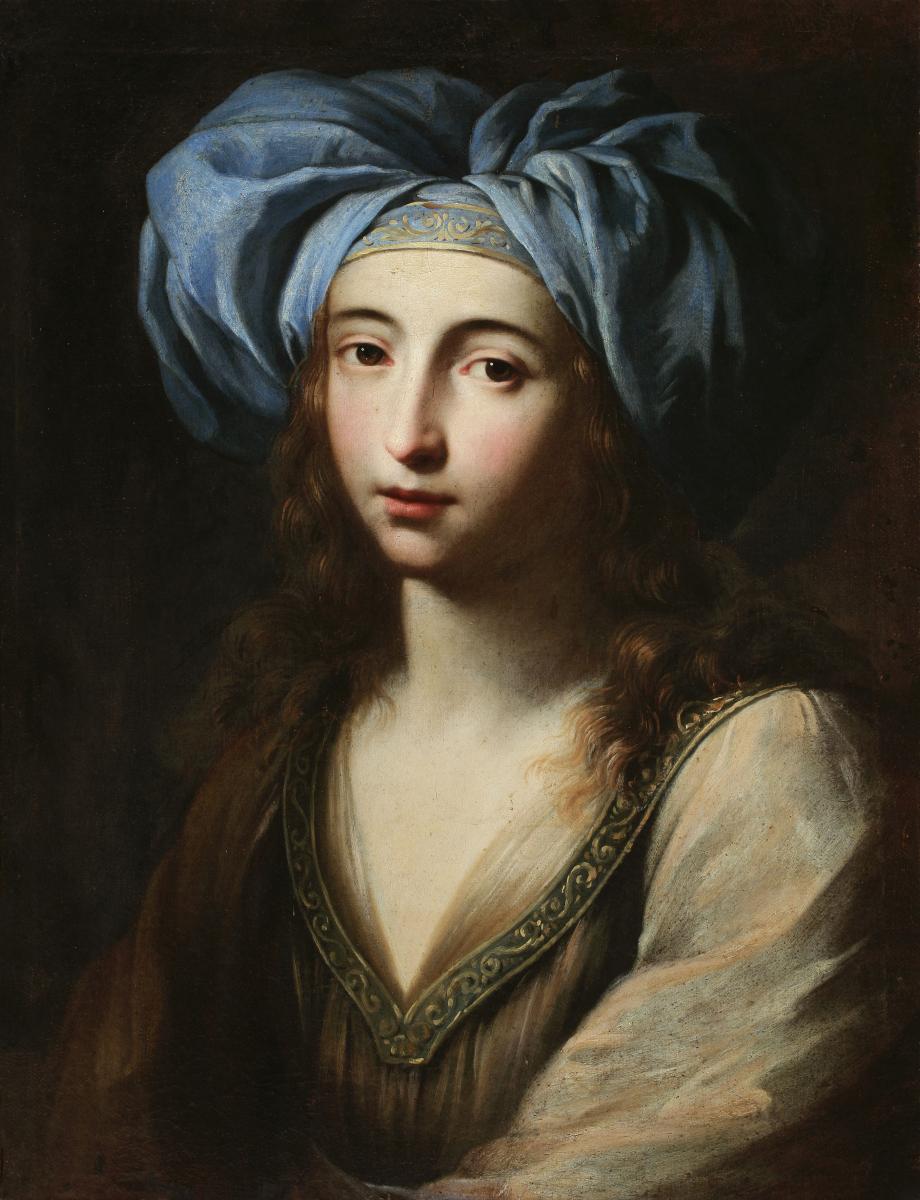 Le Signore dell'Arte Ginevra Cantofoli. Giovane donna in vesti orientali