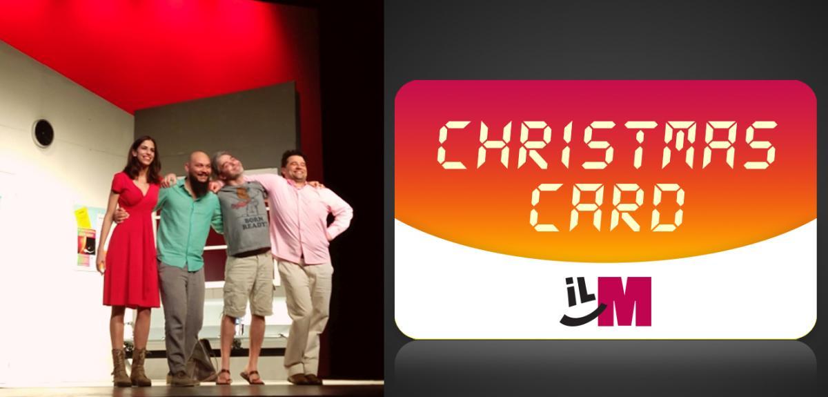 Christmas Card del martinitt e uno spettacolo attori sul palco
