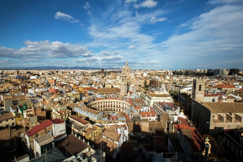 Valencia panoramica della città dall'alto