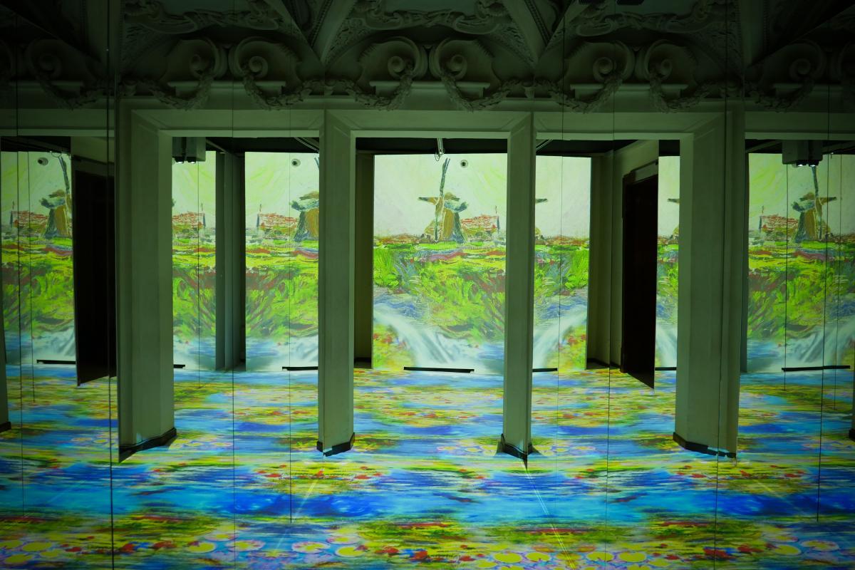Natale con Monet allestimento mostra immersiva