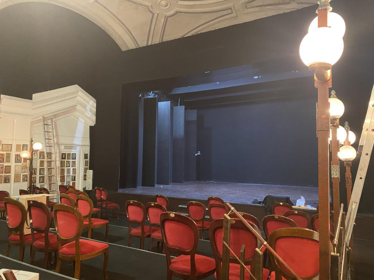 Zona Rossa la vista del palcoscenico
