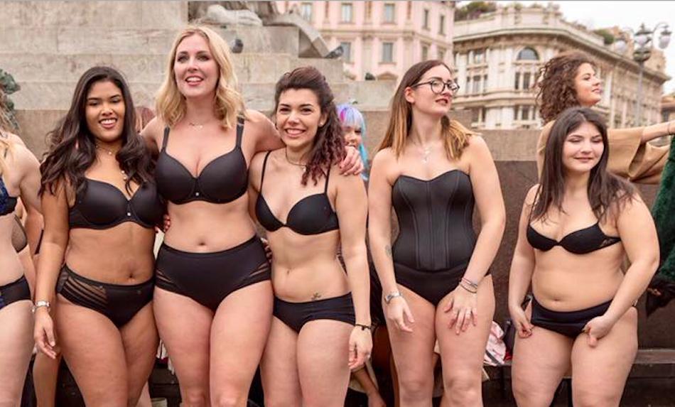 Laura Brioschi altre ragazze per la campagna body positive
