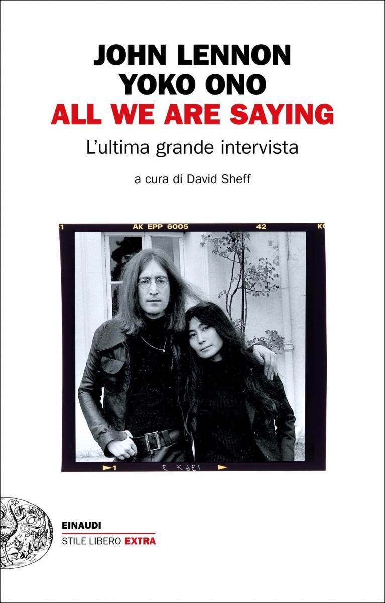 All we are saying copertina libro