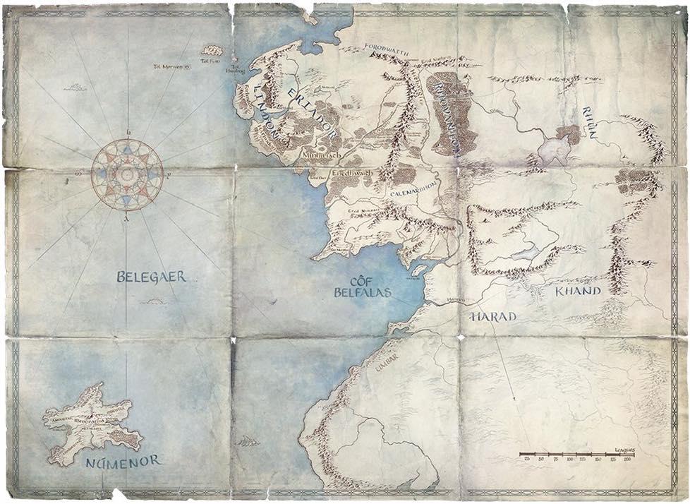 Il Signore degli Anelli la prima mappa della serie tv