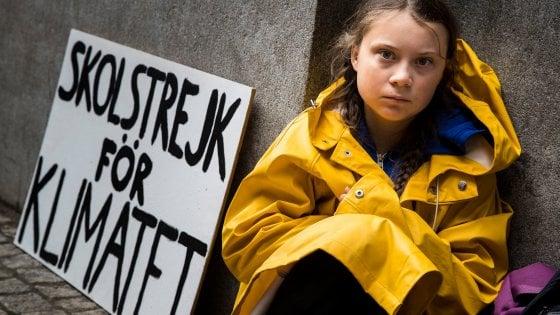 Greta Thunberg ha compiuto 18 anni tre anni fa davanti al parlamento svedese