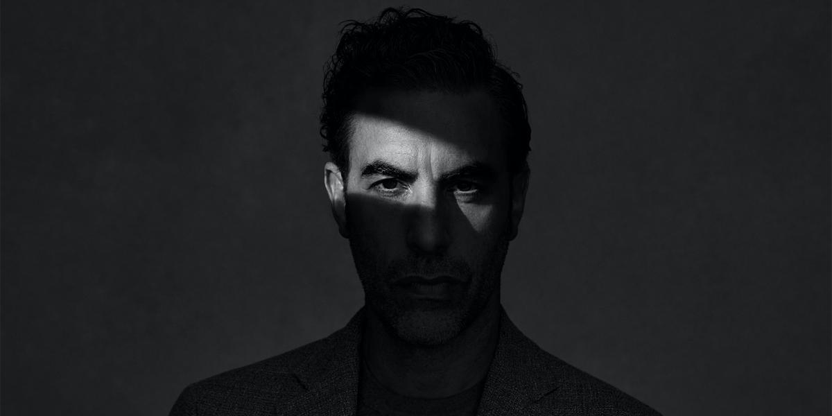 Sacha Baron Cohen foto in bianco e nero