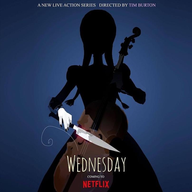 Mercoledì Addams Netflix locandina