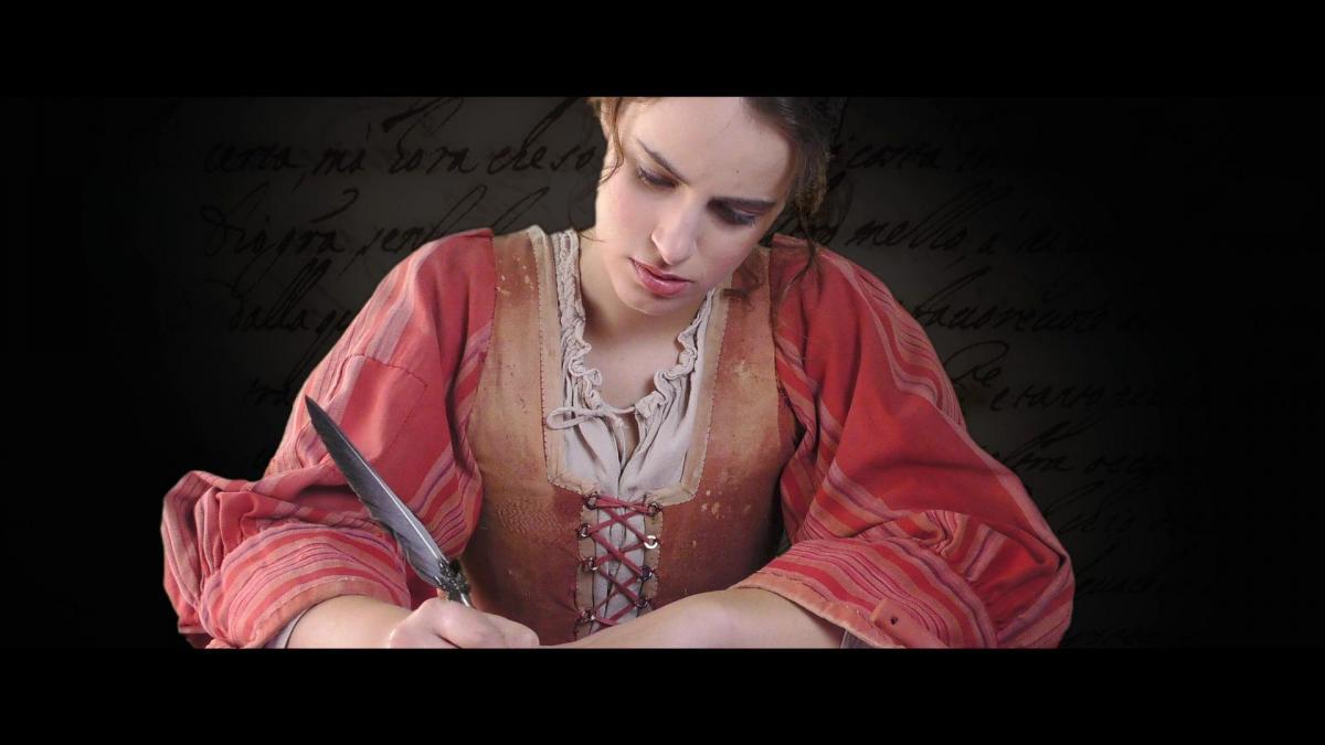 Artemisia Gentileschi film mentre scrive
