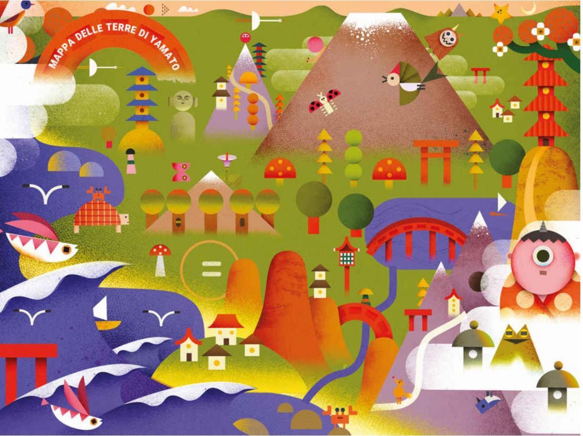 Goro goro illustrazione mappa