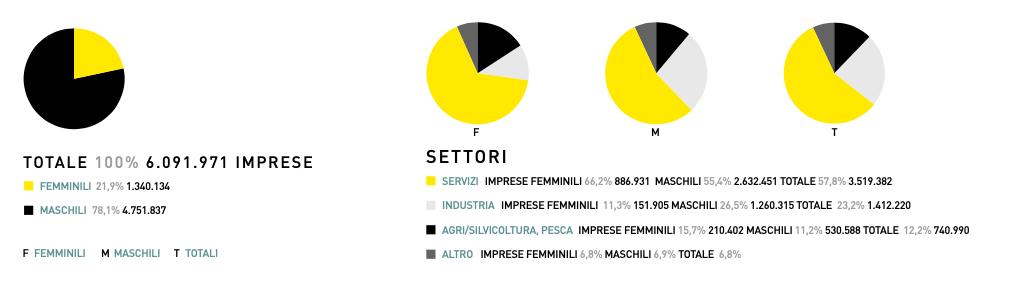 grafico delle imprese al femminile