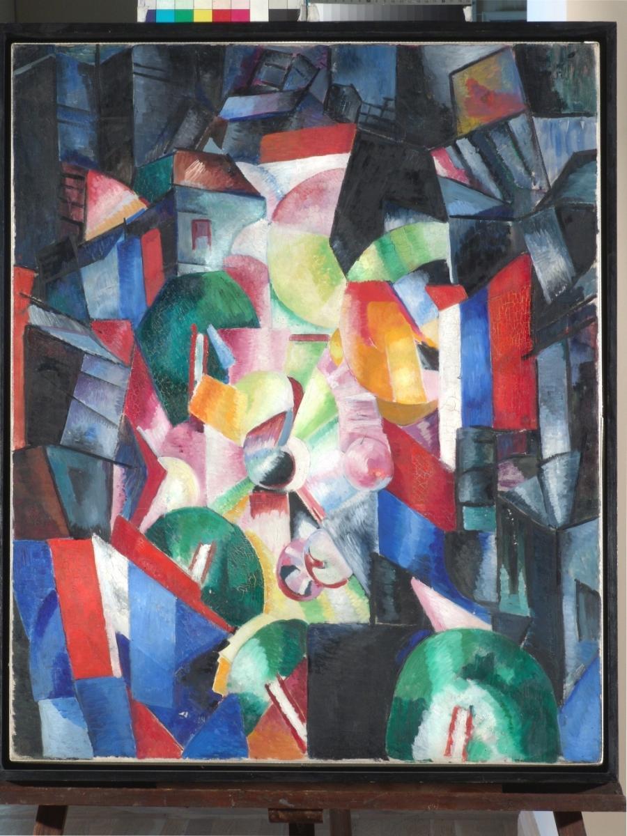 donne artiste quadro astratto multicolore avanguardia russa