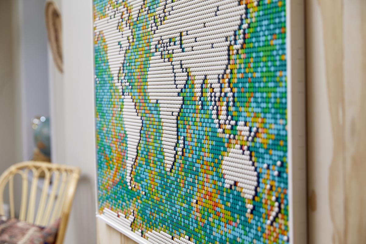 Mappa del mondo LEGO Art