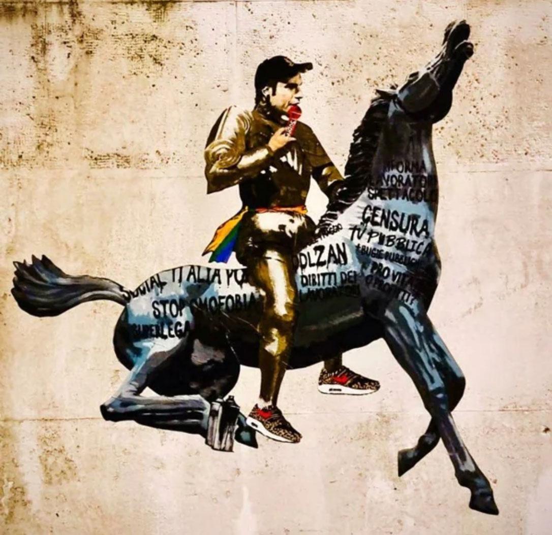Fedez murale di Harry Greb