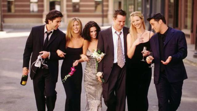 Friends reunion cast sul set