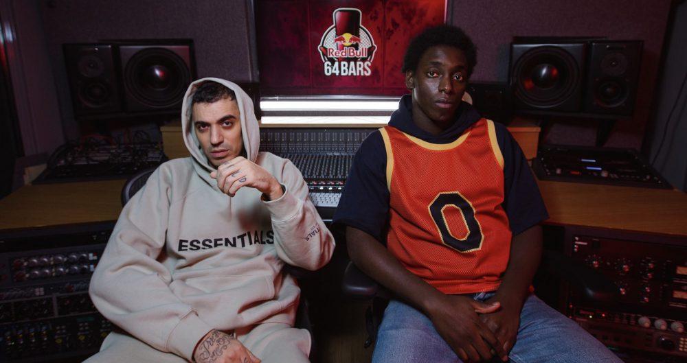 Marracash e il protagonista della serie, Giuseppe Dave Seke (Zero/Omar)