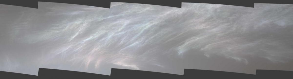 Marte, le strane nuvole colorate
