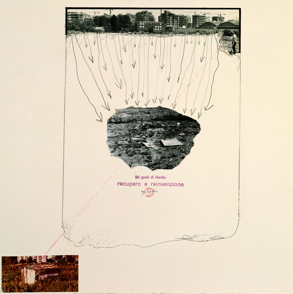 Opera di Ugo La Pietra su carta