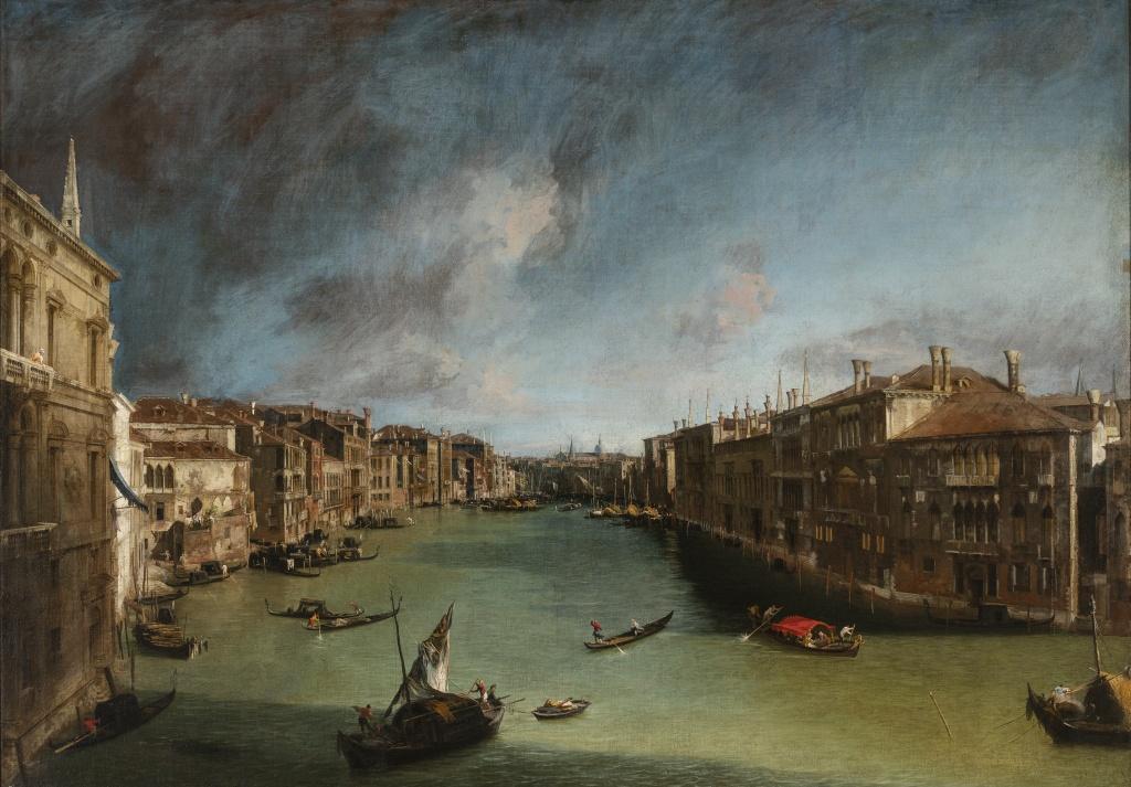 veduta del canal grande di Venezia di Canaletto