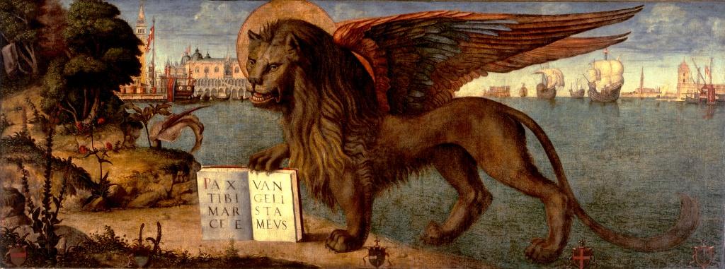 dipinto leone di San MArco di Venezia, opera di Vittore Carpaccio